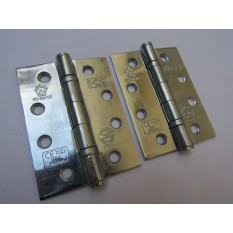 "4"" Polished Chrome Door Butt Hinge"