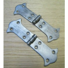Pair of Butterfly Strap Hinge Antique Iron