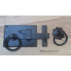 Right Handed Black Wax Ring Door Latch Handles Gate Shed