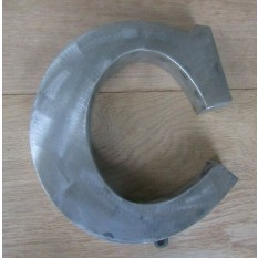 "8"" Large Rustic Steel Letter C"