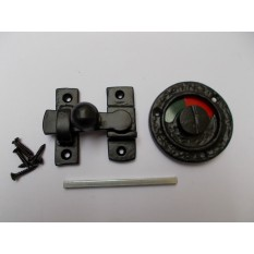 Bathroom door indicator bolt Black Antique Tudor Gothic