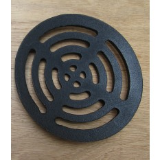 Rustic Cast Iron Gulley Gutter Lid Round Black 7""