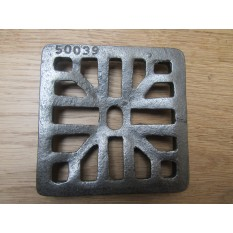 """Gulley Gutter Lid Square antique iron 4"""""""
