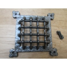 """8.5"""" Gothic Medieval Grille Cover Antique Iron"""