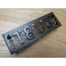 "9"" x 3"" 1883 Air Brick Antique Iron"