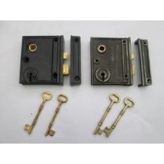 Cast iron rim lock