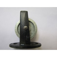 Cast Iron Plate Pulley Black