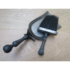 Cast Iron Rustic Shovel & Brush