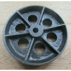 Cast Iron Rustic 7'' Jumbo Castor Axle Wheel