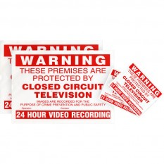 CCTV Warning Stickers