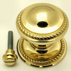 Georgian Centre Door Knob Polished Brass