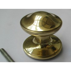Victorian Centre Door Knob Polished Brass