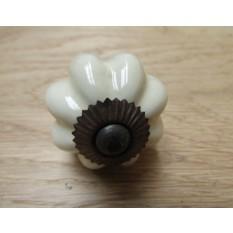 Cream Ceramic Pumpkin Cabinet Knob
