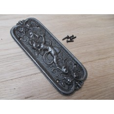 Antique Iron Cherub Finger Plate