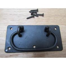 "6""  Steel Locking Handle Black Wax"