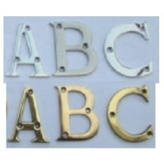 solid brass letters