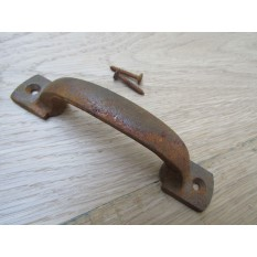 "Chunky D Cabinet Pull Handle 5"" Rust"