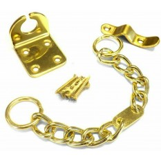 Chunky Door Chain Polished Brass