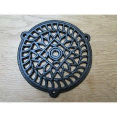 "6"" Circle Round Cover Black Antique"