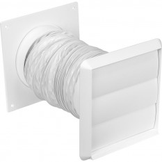 White Cooker Hood Wall Vent Kit