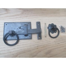 Hand-forged cottage door latch Antique Iron Right Handed