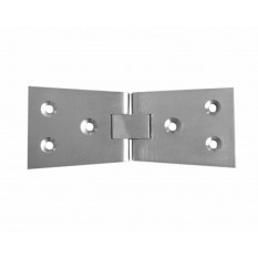 Pair Of Counter Flap Hinges Satin Chrome
