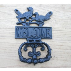 Country Birds with Welcome Sign Door Knocker