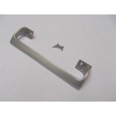 "Oval Cranked Handle Satin Aluminum 9"""