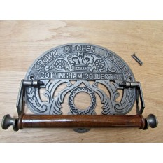 Cast Iron Crown Kitchen Roll Holder
