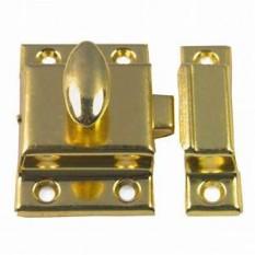 Small Steel cupboard catch 45mm Brass