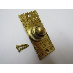 Decorative Bell Push Polished Brass