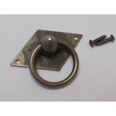 Horizontal Diamond Ring Pull Antique Iron