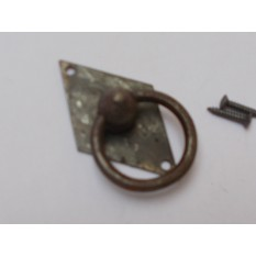 Vertical Diamond Ring Pull Antique Iron