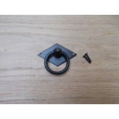Horizontal  Diamond Ring Pull Black Antique