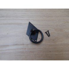 Vertical Diamond Ring Pull Black Antique