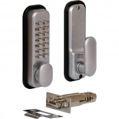 Digital Push Button Lock Satin Chrome