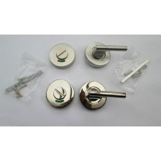 Disabled or Elderly Bathroom Lever Latch Set