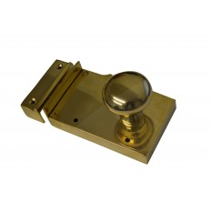 Dual handed polished brass rim lock