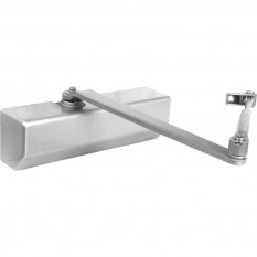 Size 3 Door Closer with Backcheck Silver