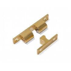Adjustable ball catch 50mm Polished Brass