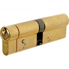 Yale Anti-snap Euro Double Cylinder (30-30mm) Pol Brass