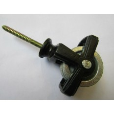 Screw In Ceiling Airer Double Pulley Black