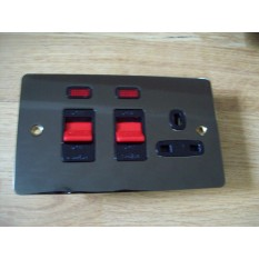 Black Nickel Switch Plate DP Neon Cooker control Unit