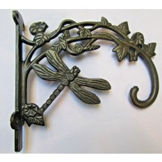Dragonfly Hook Bracket Antique Iron