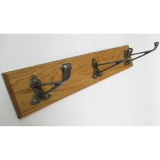 Antique Iron Dutch Coat Hook Rail