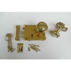 East Lake Plain Lock & Georgian Rim Brass Set