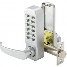 Easy Code Digital Lock with Lever Satin Chrome