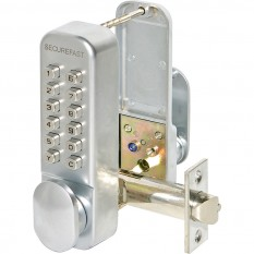 Easy Code Digital Lock with Turn Satin Chrome