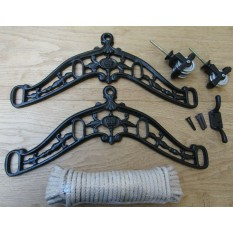 Edwardian Black Antique Clothes Airer Kit Only