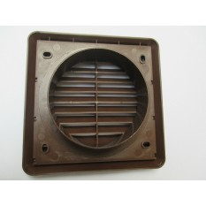 Electrical Round Ducting Grille Brown